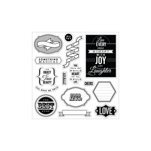 Fiskars 8x8 Clear Stamps: Special Sentiments