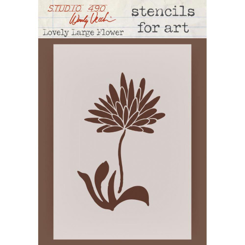 Wendy Vecchi Studio 490 Stencil Collection: Lovely Large Flower