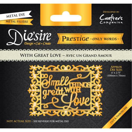 Crafter's Companion Die'Sire Prestige Dies:  With Great Love