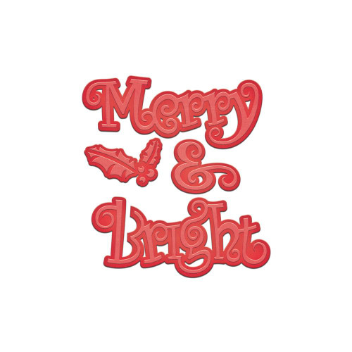 Spellbinders Shapeabilities Holiday Dies: Merry & Bright