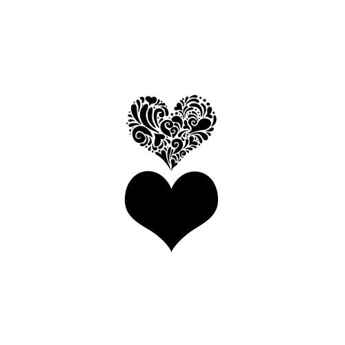 Magenta 5x7 Stencil: Heart Burst