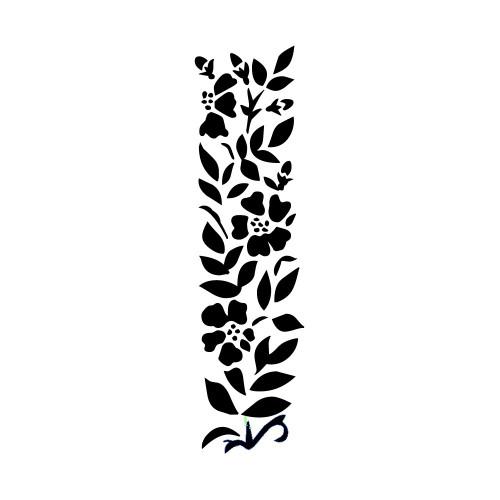 Magenta 2x5 Stencil: Bamboo Border