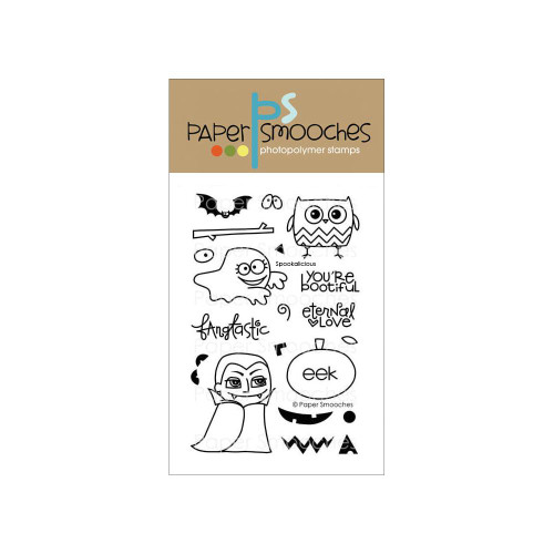 Paper Smooches 4x6 Clear Stamps: Spookalicious