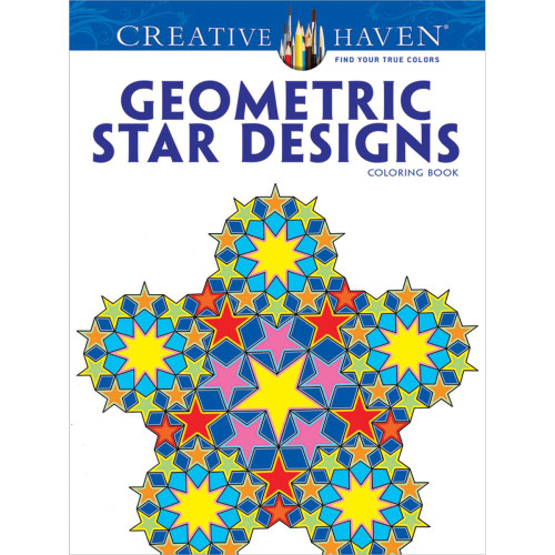 Creative Haven Coloring Book: Geometric Star Designs