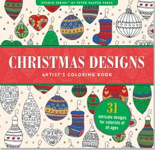 Studio Series by Peter Pauper Press: Christmas Designs Artist's Coloring Book