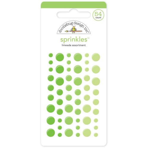 Sprinkles Glossy Enamel Sticker Dots: Limeade