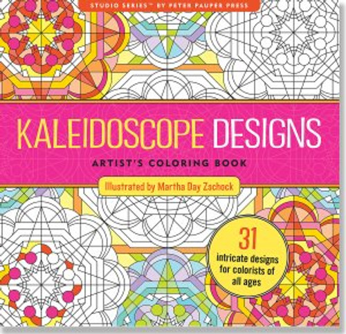 Studio Series By Peter Pauper Press Kaleidoscope Designs Artists Coloring Book