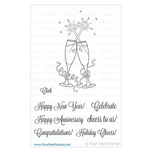 Your Next Stamp 4x4 Clear Stamp: Clink