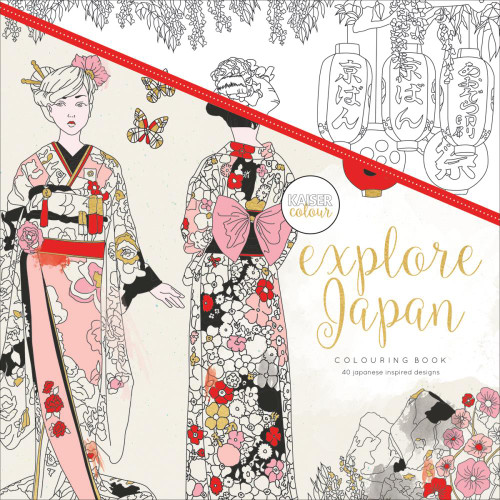 KaiserColour Perfect Bound Colouring Book: Explore Japan