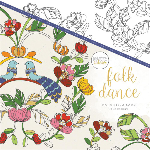 KaiserColour Perfect Bound Colouring Book: Folk Dance