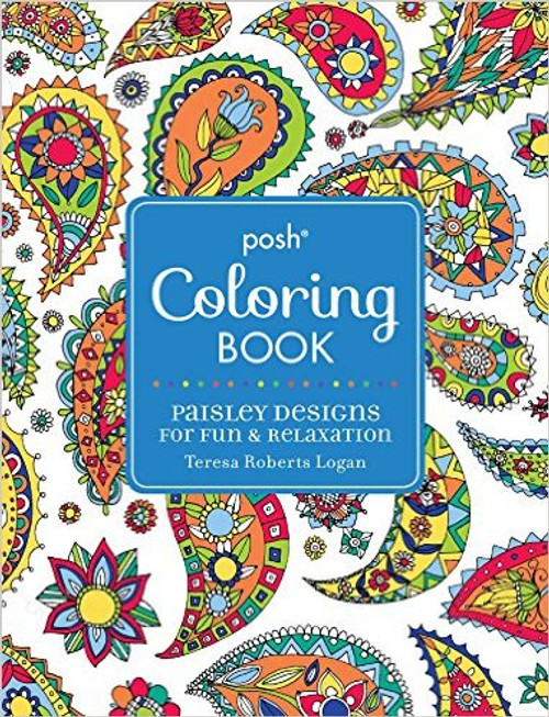 Posh Coloring Book Paisley Designs For Fun Relaxation
