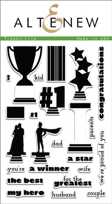 Altenew Clear Stamp Set: Trophy Life