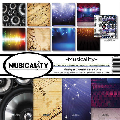 Reminisce Musicality 12x12 Collection Kit