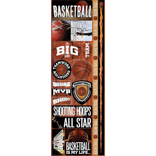 Reminisce Real Sports Cardstock Sticker: Basketball