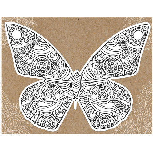 Paper House Diecut Coloring Cards: Butterfly