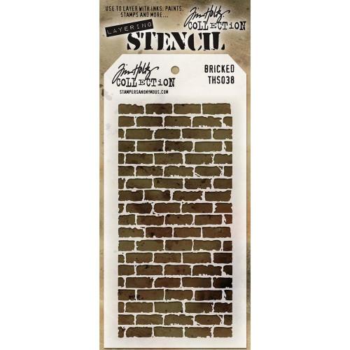 Tim Holtz Layering Stencil: Bricked