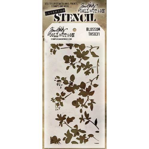 Tim Holtz Layering Stencil: Blossom