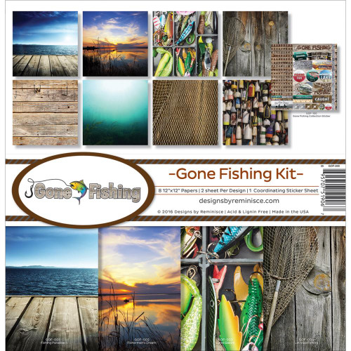 Reminisce Gone Fishing 12x12 Collection Kit