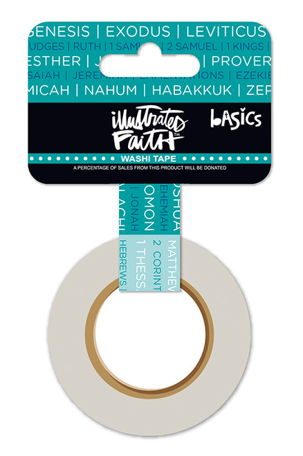Illustrated Faith Basics Washi Tape: Books of the Bible 1""