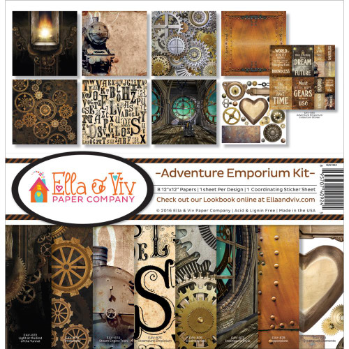 Ella & Viv 12x12 Collection Pack: Adventure Emporium