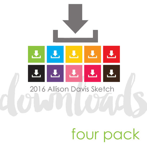 2017 MARCH FOUR PACK + 1 BONUS SKETCH: 4 Photos - One Page