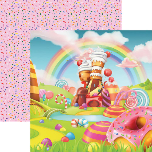 Reminisce Candy Shoppe 12x12 Paper: Candy Lane