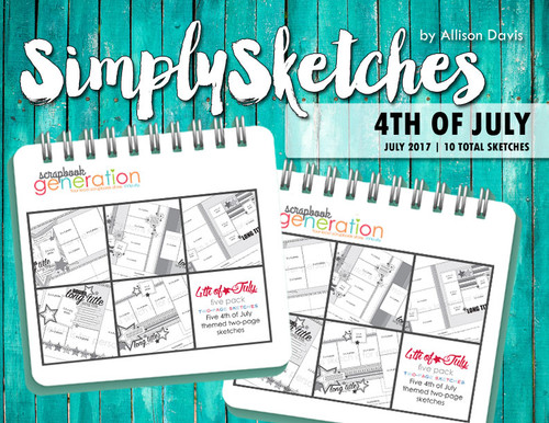 Simply Sketches Ebook: July 2017 | 4th of July