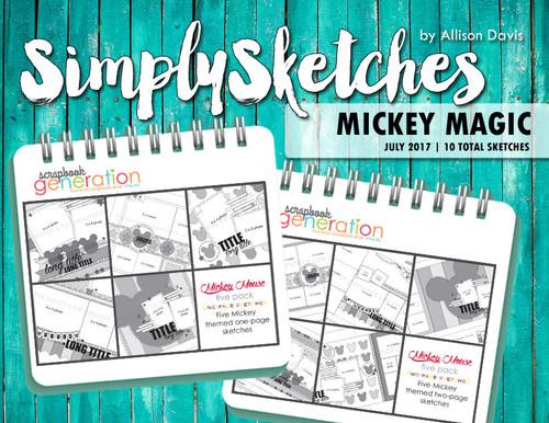 Simply Sketches Ebook: July 2017 | Mickey Magic