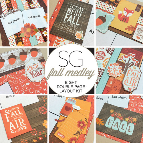 SG: Fall Medley - 8 Layout Kit
