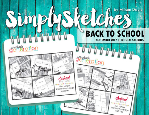 Simply Sketches Ebook: September 2017 | Back To School