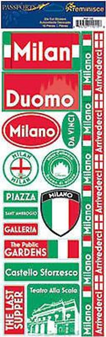 Reminisce Passports Series Stickers: Milan