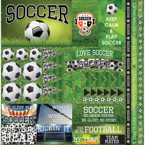"""Reminisce The Soccer Collection """"2"""" 12x12 Poster Sticker"""