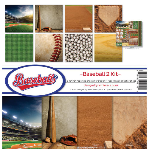 """Reminisce 12x12 Collection Pack: Baseball """"2"""""""