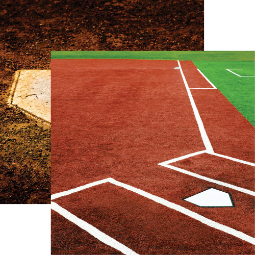 "Reminisce The Softball Collection ""2"" 12x12 Paper: Infield"