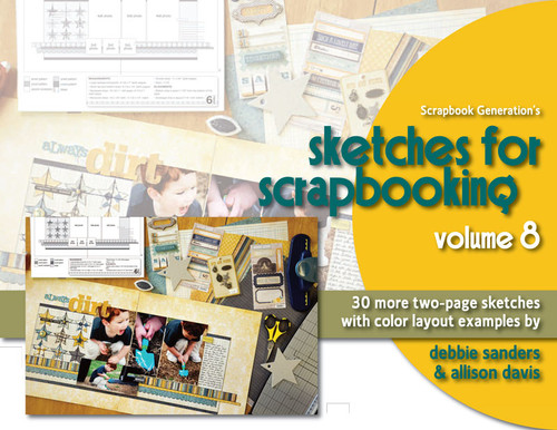 E-BOOK: Sketches For Scrapbooking - Volume 8 with Color Examples (non-refundable digital download)