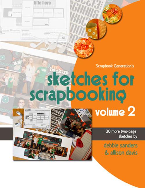 E-BOOK: Sketches For Scrapbooking - Volume 2 (non-refundable digital download)