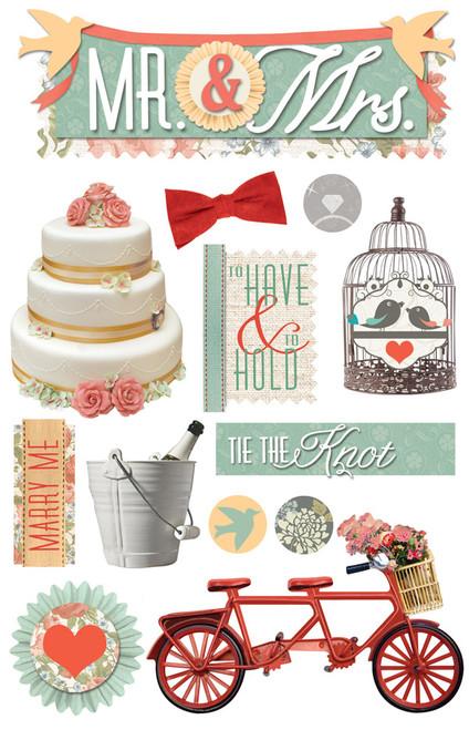 Paper House 3D Sticker: Mr. & Mrs.