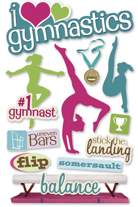 Paper House 3D Sticker: Gymnastics