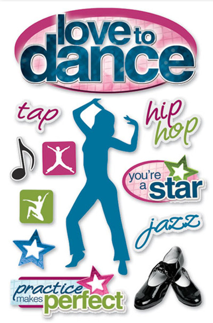 Paper House 3D Sticker: Love To Dance
