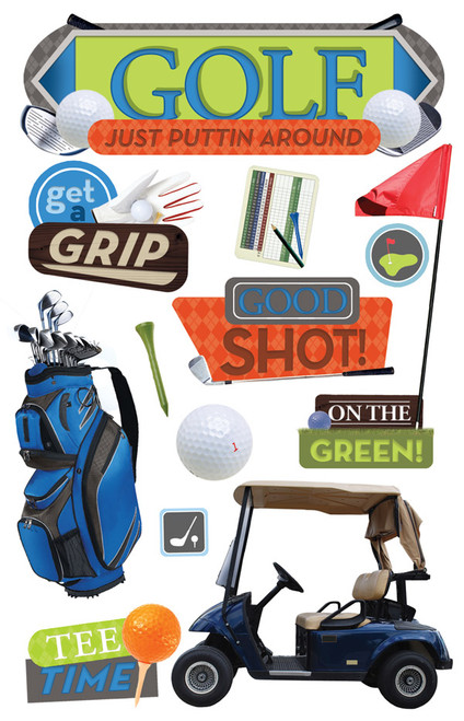 Paper House 3D Sticker: Golf
