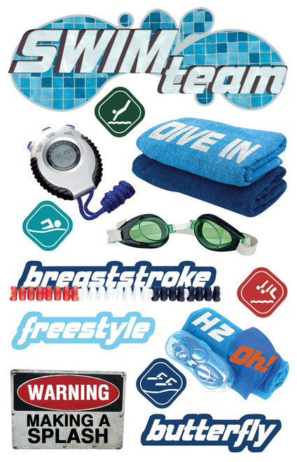 Paper House 3D Sticker: Swim Team