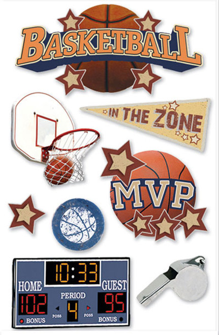 Paper House 3D Sticker: Basketball