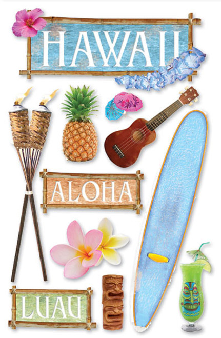 Paper House 3D Sticker: Hawaii