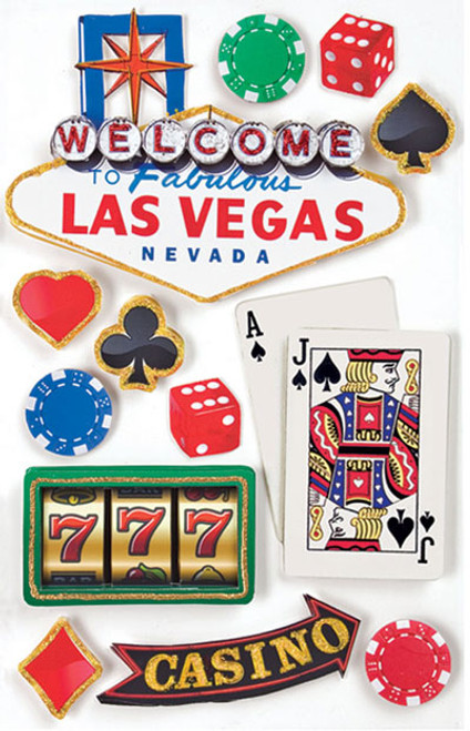 Paper House 3D Sticker: Las Vegas