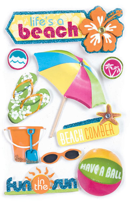 Paper House 3D Sticker: Life's A Beach