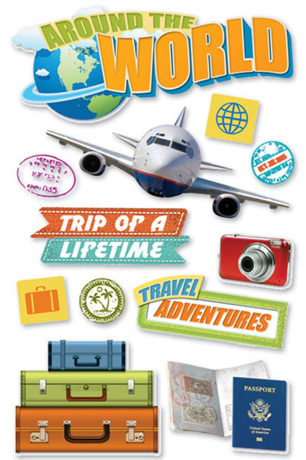 Paper House 3D Sticker: World Travel