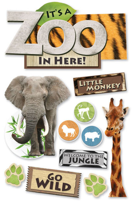 Paper House 3D Sticker: Zoo
