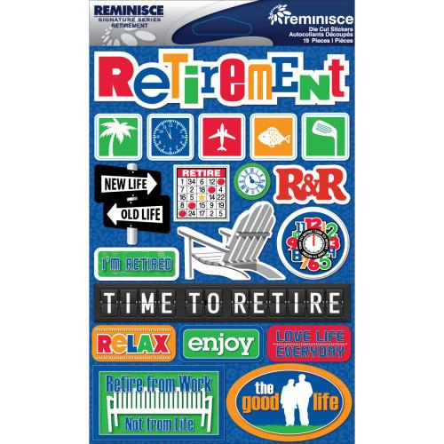 Reminisce Signature Series Dimensional Sticker: Retirement