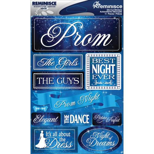 Reminisce Signature Series Dimensional Sticker: Prom