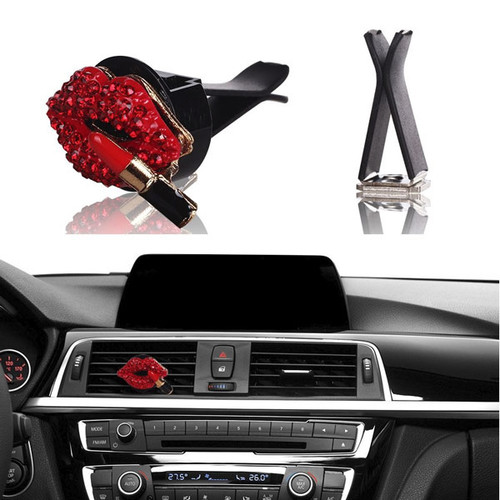 auto air vent clip charms crystal car interior decoration charms. Black Bedroom Furniture Sets. Home Design Ideas